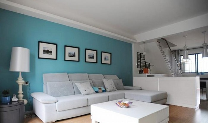 Wohnzimmer Farblich Gestalten Türkis