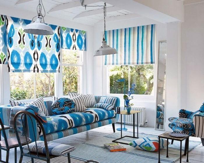 Wohnzimmer Farblich Gestalten Wohnideen Mit Der Farbe Blau With Wohnzimmer  Farben Blau