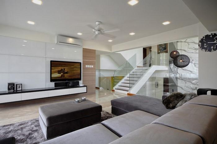 Wohnzimmer-grau-Ein-außergewöhnliches-Interieur
