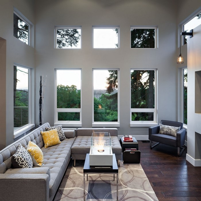Wohnzimmer grau einrichten und dekorieren for Wohnzimmer designer