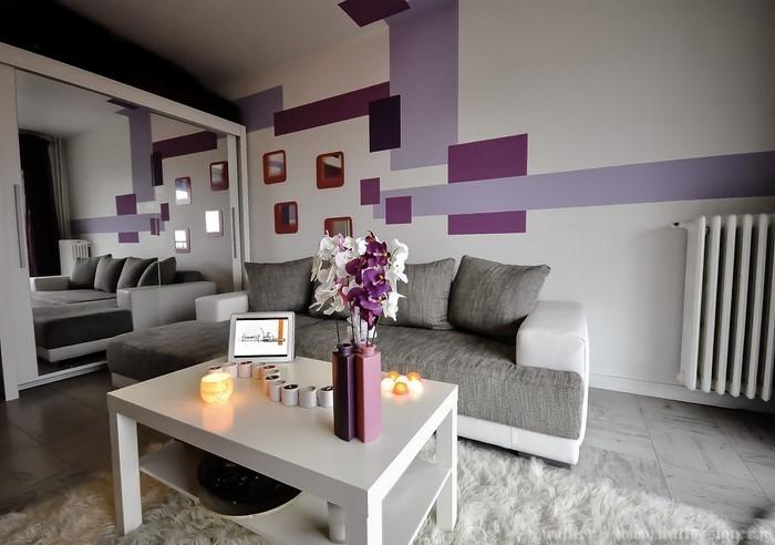Design Wohnzimmereinrichtungen Modern Weiss Ansprechend ...