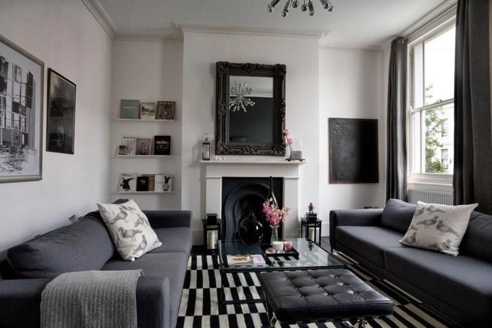 wohnzimmer mit holzmöbel und grauen laminat ~ surfinser.com - Wohnzimmer Grau Laminat