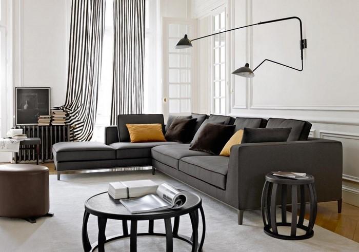 Wohnzimmer-grau-Eine-außergewöhnliche-Ausstattung
