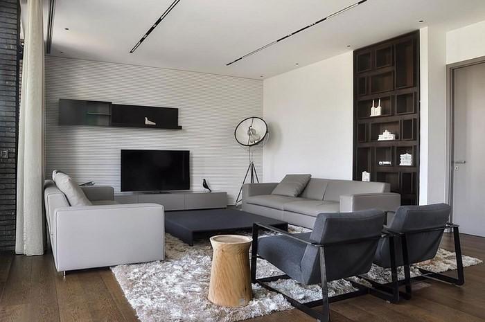 Wohnzimmer-grau-Eine-außergewöhnliche-Deko