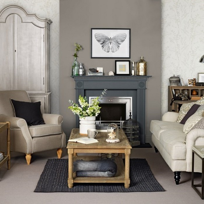 wohnzimmer dekoration grau haus design ideen