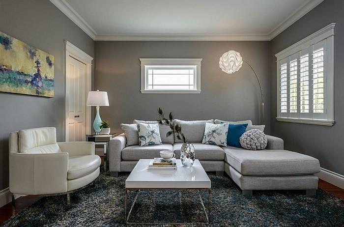 deko wohnzimmer grau:Wohnzimmer grau einrichten und dekorieren? 60 tolle Ideen!