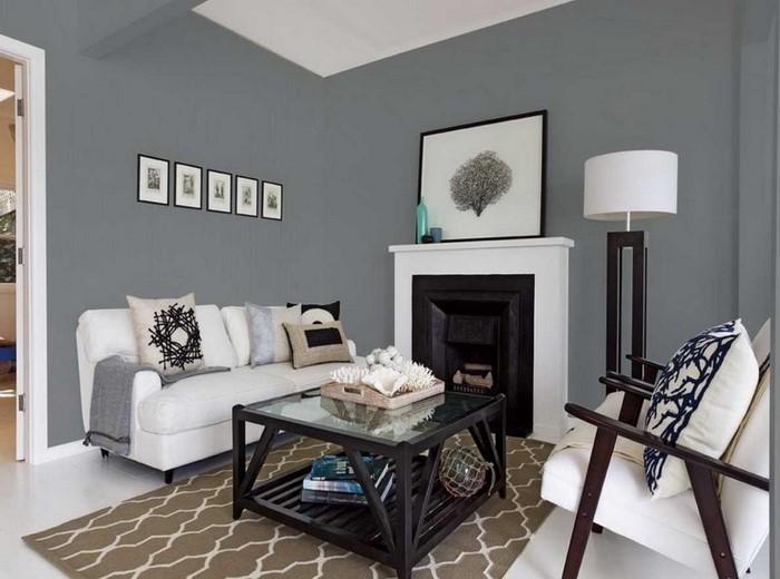 Wohnzimmer-grau-Eine-auffällige-Dekoration