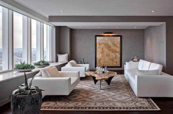 Wohnzimmer Grau Eine Coole Dekoration