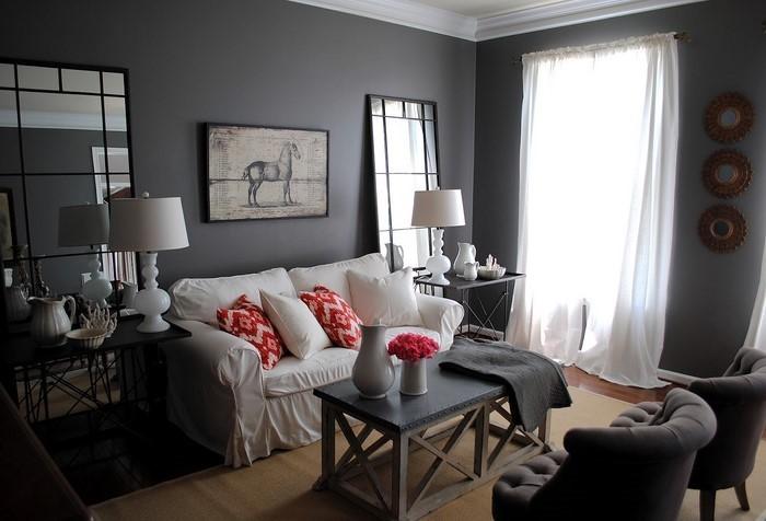 wohnzimmer grau eine kreative ausstattung