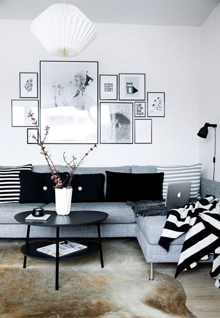 Wohnideen wohnzimmer grau  Wohnzimmer grau einrichten und dekorieren
