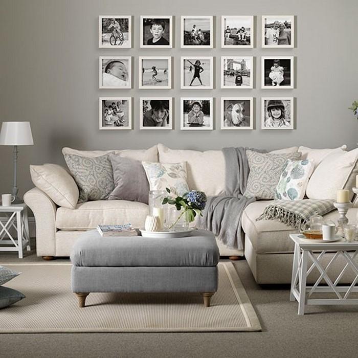 Wohnzimmer ideen weiss grau  Wohnzimmer grau einrichten und dekorieren