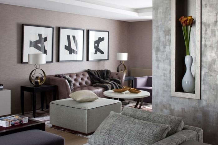 wohnzimmer grau einrichten und dekorieren - Modernes Wohnzimmer Grau