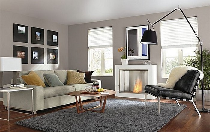 wohnzimmer grau einrichten und dekorieren, Deko ideen