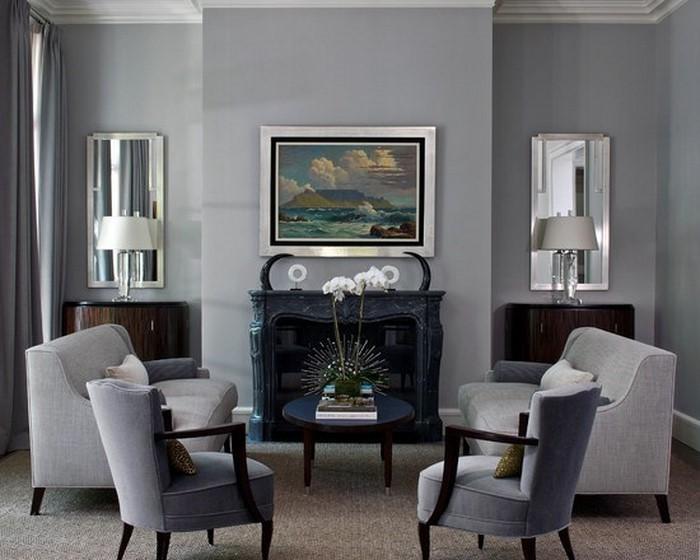 wohnzimmer grau einrichten und dekorieren. Black Bedroom Furniture Sets. Home Design Ideas