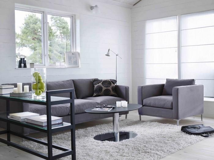 Wohnzimmer einrichten grau grün  Wohnzimmer grau einrichten und dekorieren
