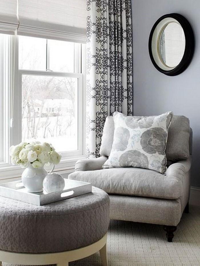 wohnzimmer deko grau:Wohnzimmer grau: Verschiedene Graunuancen in modernem Zusammenspiel