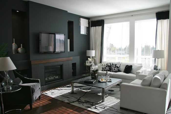 Wohnzimmer Dekoration Grau Einrichtungsideen Rustikal