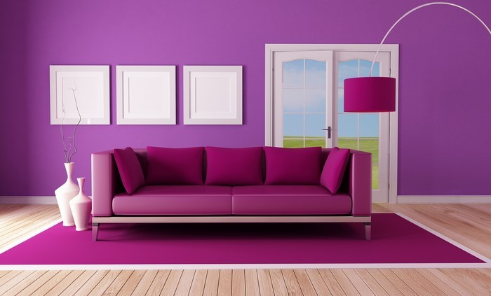 Bestechen Wohnideen Wohnzimmer Lila Farbe Fernsehprogramm