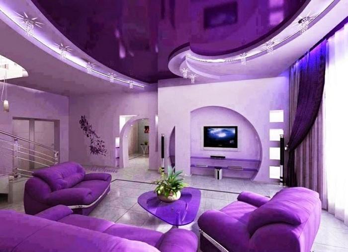 wohnzimmer lila gestalten: 79 tolle deko ideen - Moderne Wohnzimmer Lila