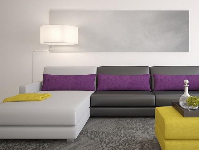 wohnzimmer lila gestalten: 79 tolle deko ideen, Wohnideen design