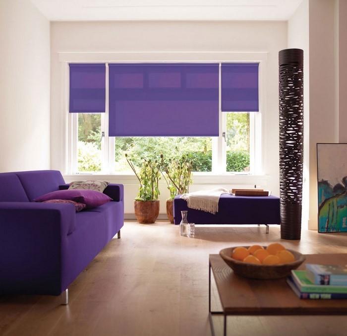 Wohnzimmer-lila-Ein-tolles-Design