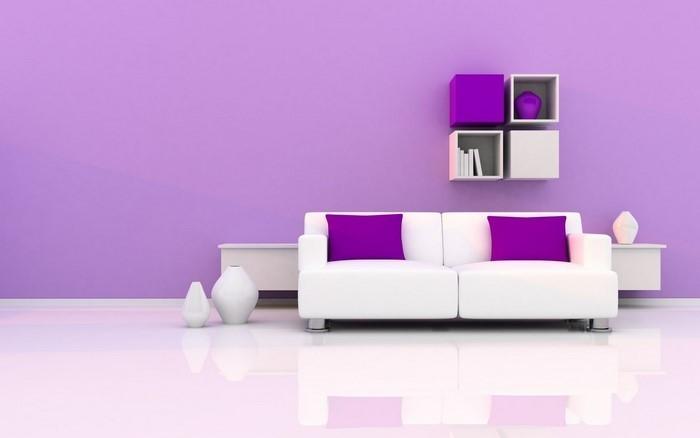 Wohnzimmer-lila-Ein-wunderschönes-Design