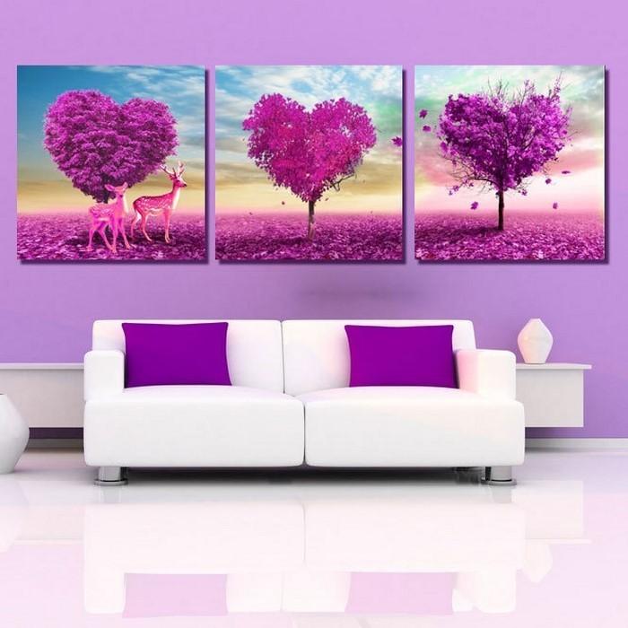 wohnzimmer lila gestalten 79 tolle deko ideen. Black Bedroom Furniture Sets. Home Design Ideas