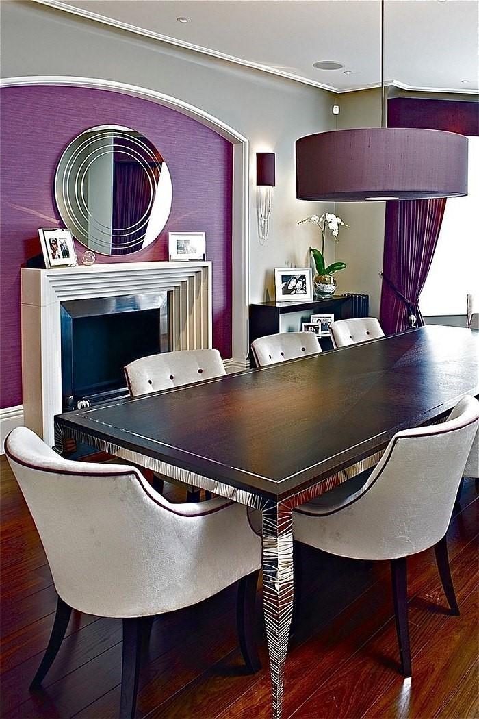 wohnzimmer deko lila:Wohnzimmer-lila-Eine-außergewöhnliche-Gestaltung