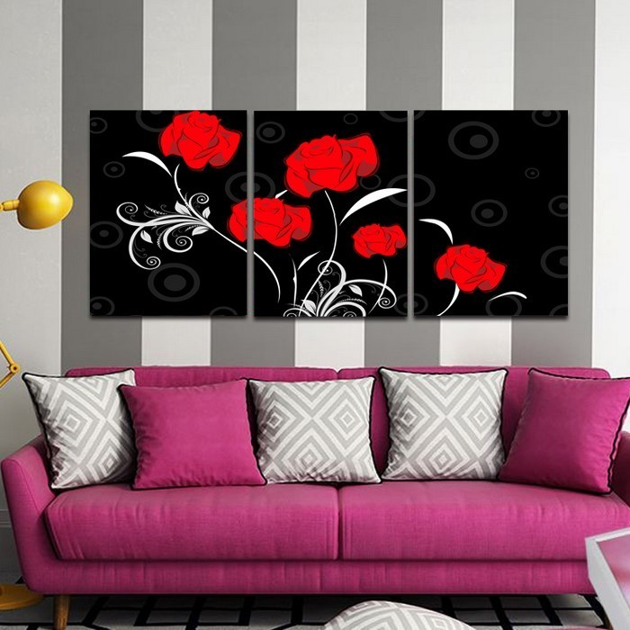 Wohnzimmer-lila-Eine-auffällige-Atmosphäre