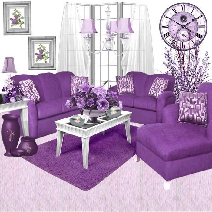 wohnzimmer deko lila:Wohnzimmerfarbe, die Freude, Liebe und Zuversicht ausstrahlt