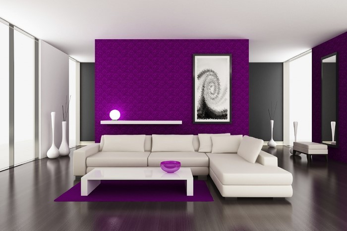 Awesome Wohnzimmer Farbe Lila Awesome Design
