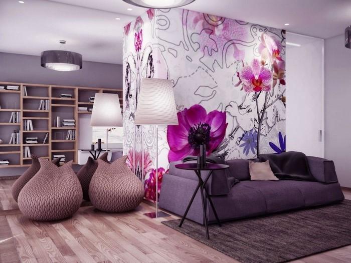 Wohnzimmer Lila Eine Coole Ausstrahlung
