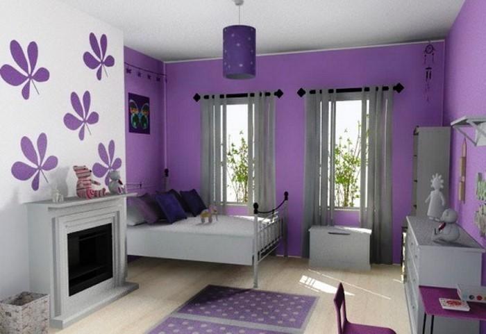Coole Wohnzimmer Deko : Wohnzimmer Wandgestaltung in lila:Ein cooles ...