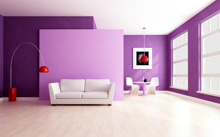 Dekoideen Wohnzimmer Lila : Wohnzimmer in lila gestalten: 79 tolle ...