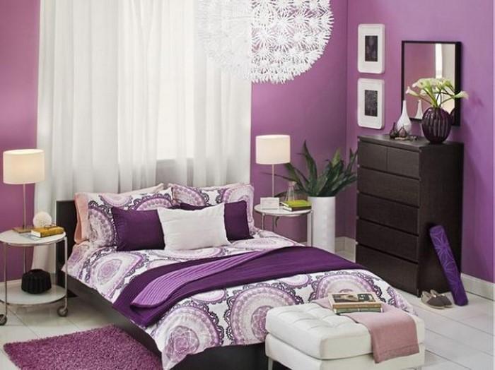 wohnzimmer lila gestalten: 79 tolle deko ideen - Wohnzimmer Weis Flieder