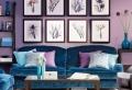 Wohnzimmer in lila gestalten: 79 tolle Deko Ideen