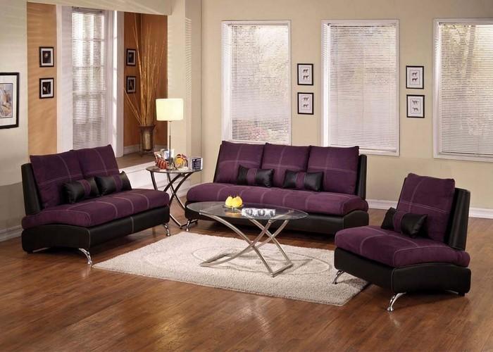 Wohnzimmer-lila-Eine-kreative-Gestaltung