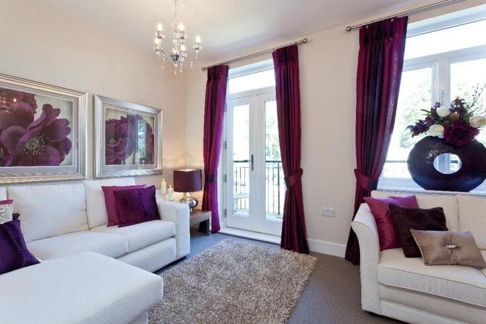 Wohnzimmer-lila-Eine-moderne-Ausstattung