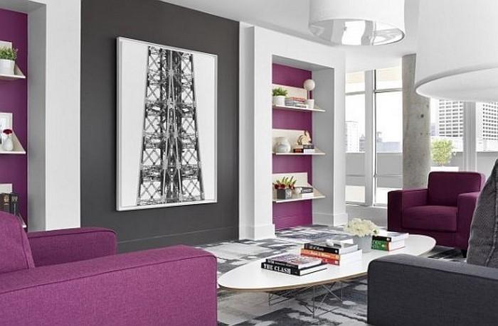 design : wohnzimmer lila beige ~ inspirierende bilder von ... - Wohnzimmer Lila Braun