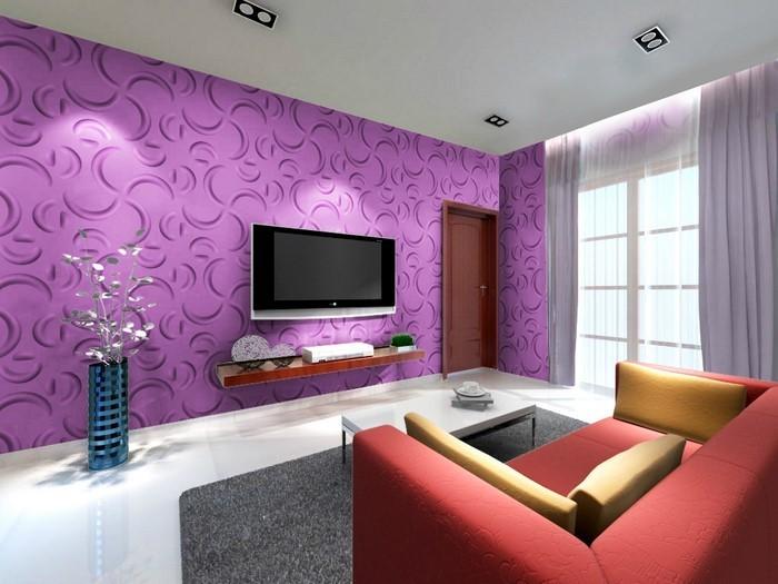 Wohnzimmer lila braun haus design ideen - Wohnzimmer violett braun ...