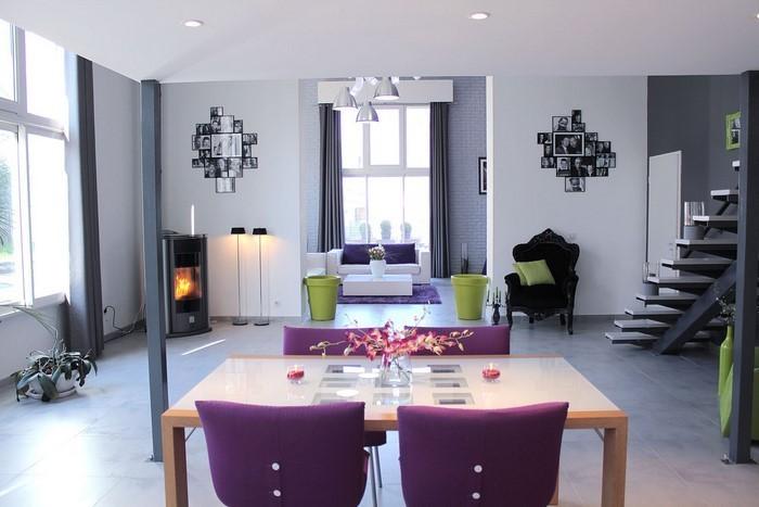 Wohnzimmer-lila-Eine-verblüffende-Gestaltung