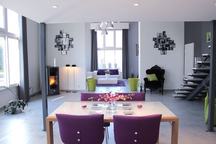 Moderne Wohnzimmer Lila ~ Inspiration Layout In Ihrem Zuhause Moderne Wohnzimmer Lila