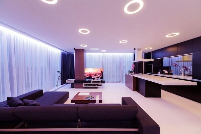 Wohnzimmer-lila-Eine-wunderschöne-Ausstattung