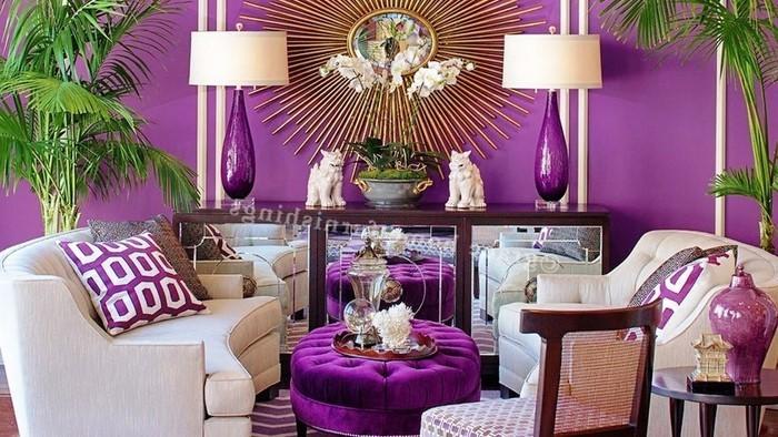 Wohnideen lounge grijs lila kreatives haus design - Wohnideen lila ...