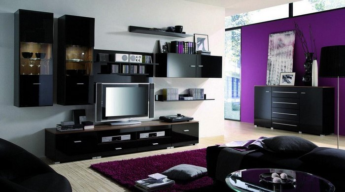 wohnzimmer lila. Black Bedroom Furniture Sets. Home Design Ideas
