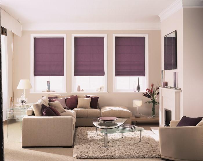 Wohnzimmer-lila-Eine-wunderschöne-Dekoration