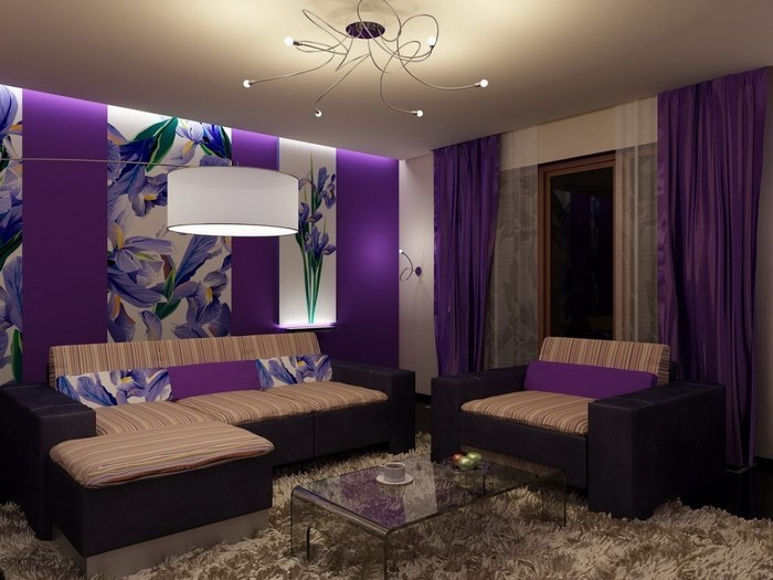 Wohnzimmer-lila-Eine-wunderschöne-Entscheidung