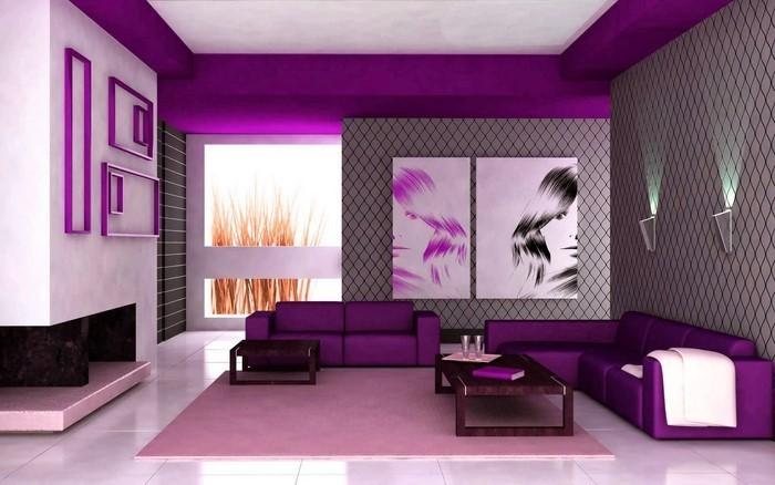 Wohnzimmer-lila-Eine-wunderschöne-Gestaltung