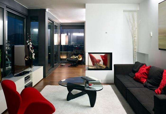 Wohnzimmer-rot-Ein-cooles-Interieur