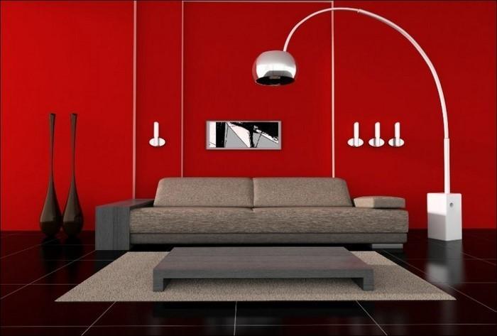 Wohnzimmer-rot-Ein-modernes-Design